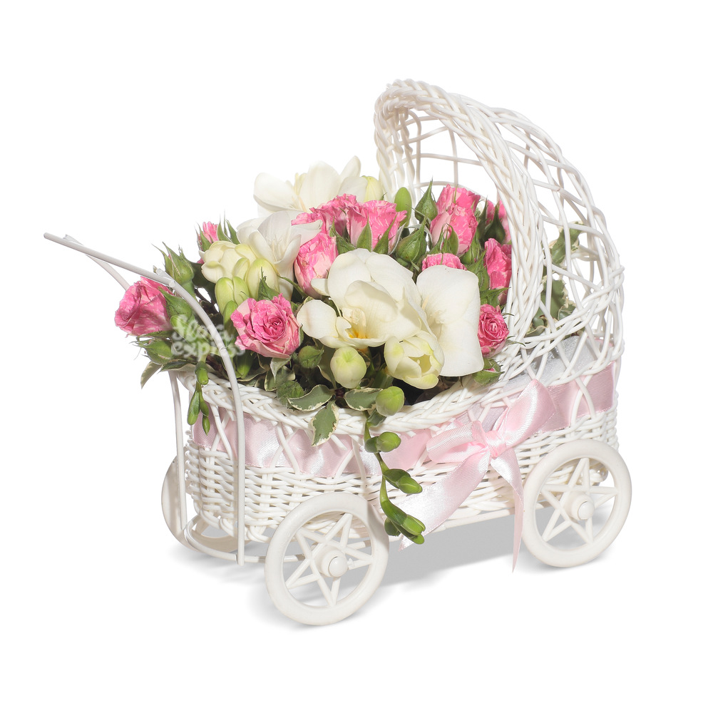 Букет «Flora Express», С рождением дочки!