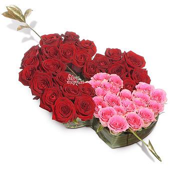 Букет Стрела Амура: Розы