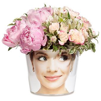Букет Cherchez la femme: Пионы и розы
