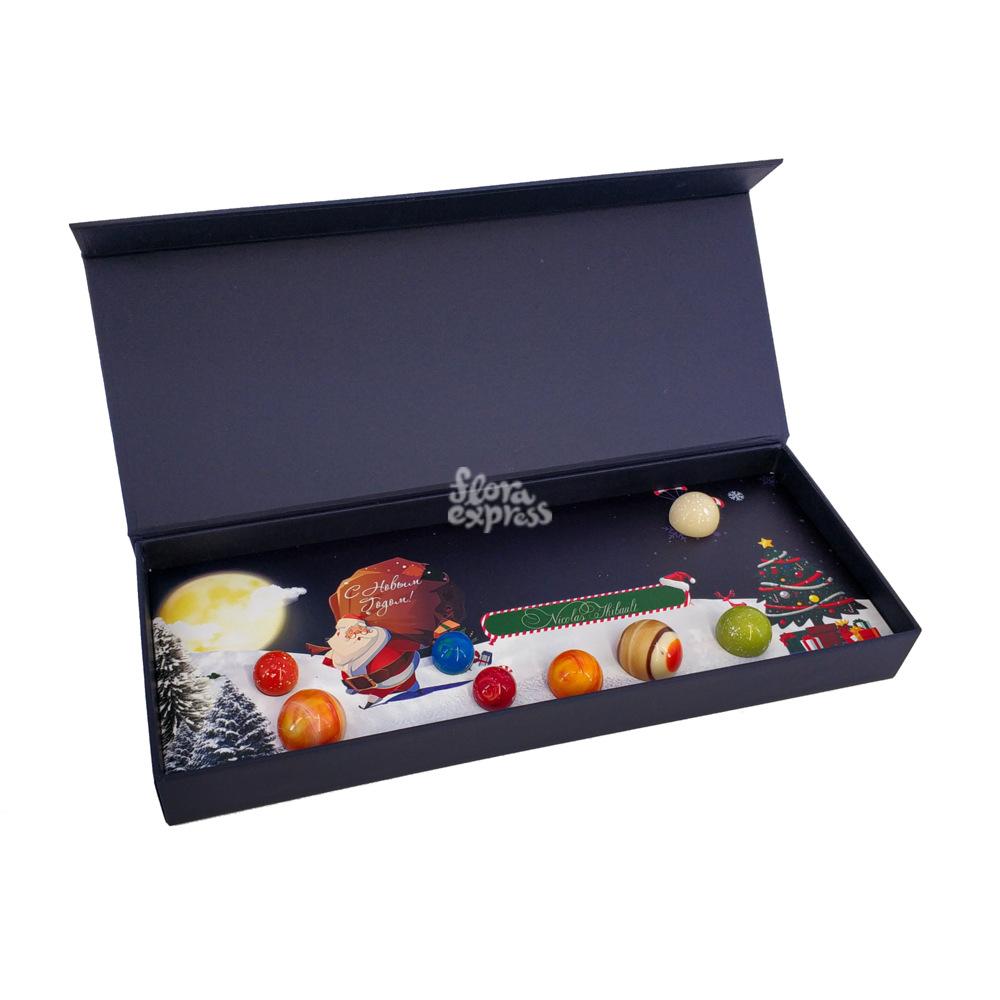 Букет «Flora Express», Шоколадные планеты ручной работы. Новый год